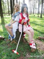 Skuld and Belldandy by adami-langley