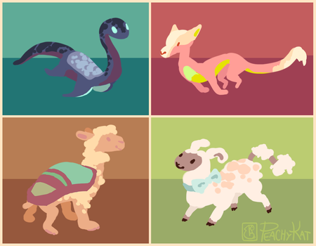 Colorful Critters by PeachyKat