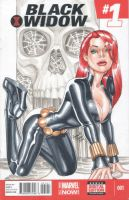 Black Widow skull 2014 - Black Widow #1 by amanojyaku