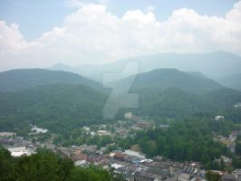 View of Gatlinburg Tn. and surrounding mountains-1 by ArtieWallace