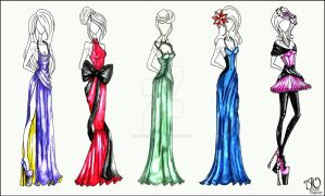 Evening Gowns by AlirizaDesign