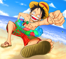 Luffy - K.O.-2 by McFrankyArt