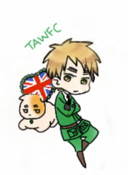 England and his cat by TAWFC