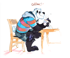 Coffee Bear by super-tuler