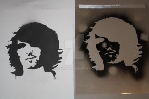 self portrait stencil 2 by whitedenim