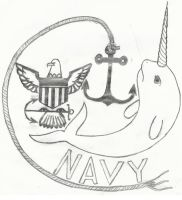 NAVY NARWHALS by Coolskylerman