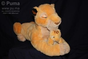 Sarabi with baby Simba plush by dapumakat
