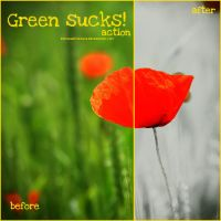 Green sucks Action by inmyhappyplace