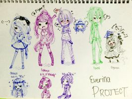 Everina Project Main Cast by AlisaFimu