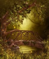 Fairy wood Free background by moonchild-ljilja