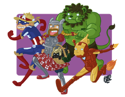 The Avengers: Wizard of Oz by lazy-perfs