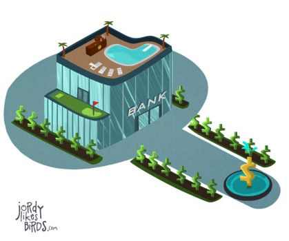 isometric bank by milesmars