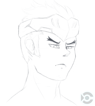 Young Genji sketch by ryniainesory