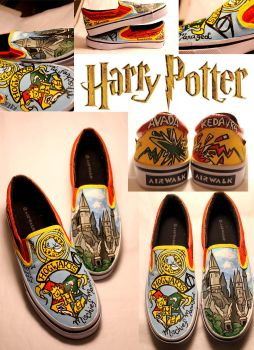 HARRY POTTER SHOES by artsyfartsyness