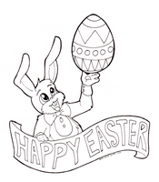 Free: Easter Color Page by CyphonFiction