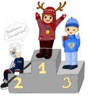 Olympic Hockey Podium by laufiend