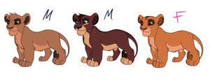 Kovu And Kiara Cubs Adoptables by Tamnyan