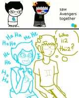 Jane and Sollux: Avengers by yellowvest123
