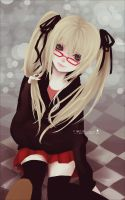 : Blonde School Girl : by F-AYN-T