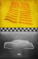 Movie Car Racing Posters - Fifth Element Taxi by Boomerjinks