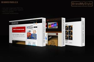 3D BOXES PACK v2.0 by brandmystyle