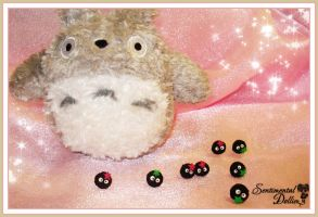 Kawaii Black Soots Earrings in Totoro by SentimentalDolliez