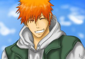 Smiling Ichigo by mspauly