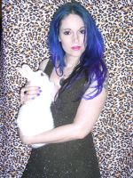 Blue hair stock 10 with bunny by LilithsStock