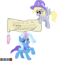 The Great Derpy(tm) and Trixe have a message. . . by Fundz64