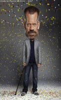 Caricature Dr House by dnunciate