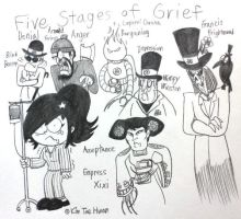 Francis and his Five Stages of Grief Servants by komi114