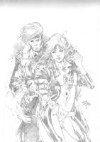 gambit and rogue by Iago-Maia