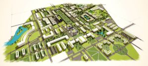 University Campus: Master Plan 3.0 by RMoy-Art