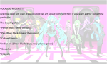 Vocaloid Requests Are Now Open !!!(Limited places) by haruhi116