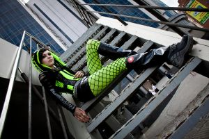 cyber goth neon green by mysteria-violent