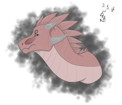 First drawing with tablet (dragon) by a-mystical-feline