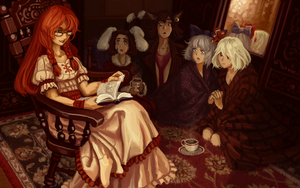 Meiling reads a fairy tale by U-Joe