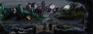 City Concept 7 for video game by CRWardenArt