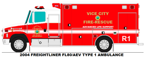 Vice City Fire Dept. Rescue 1 by MisterPSYCHOPATH3001