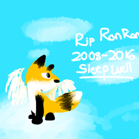 RIP RonRon 2008 to 2016 by thisisspartacat1230