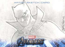 Avengers Assemble Sketchcard - Black Panther by theopticnerve