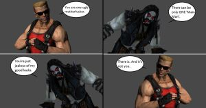 Injustice: Duke Nukem vs Lobo by xXTrettaXx