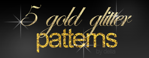 5 gold glitter pattern by deliasworks