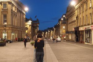 Amorous couple on Grey Street by Brianetta
