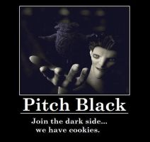 Pitch Black has Cookies by LaunaWolf