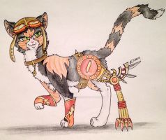 Super Steampunk Fiery Death Kitten: Aki by Matsuban