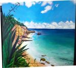Cupecoy Beach Sint Maarten by Punch-line-designs