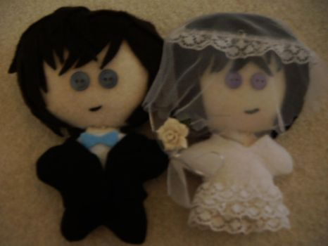 Satou and Takagi Wedding Plush by Red-and-Gold-Phoenix