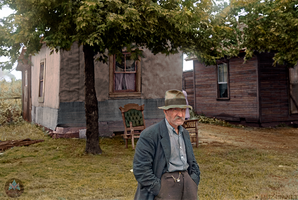 Old man during the great depression 1938 by marinamaral