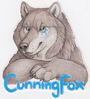 Last minute con badge by CunningFox